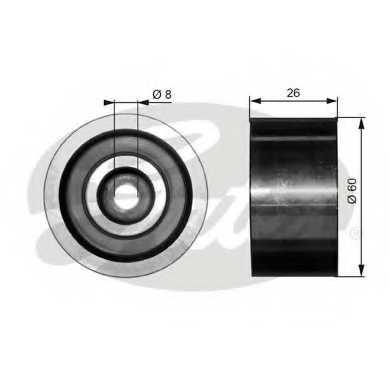 Паразитный / ведущий ролик поликлинового ременя GATES T36076 - изображение