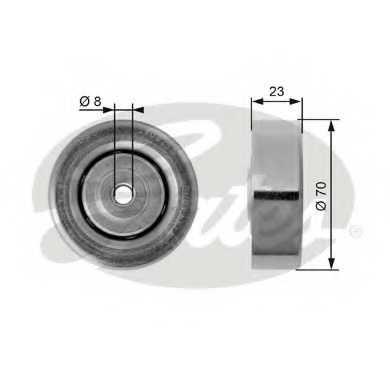 Натяжной ролик поликлиновогоременя GATES T36161 - изображение