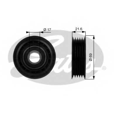 Паразитный / ведущий ролик поликлинового ременя GATES T36189 - изображение