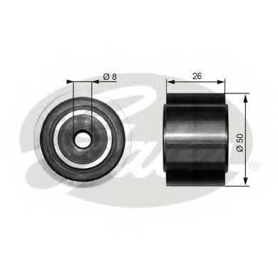Паразитный / ведущий ролик поликлинового ременя GATES T36191 - изображение