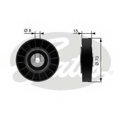 Паразитный / ведущий ролик поликлинового ременя GATES T36214 - изображение
