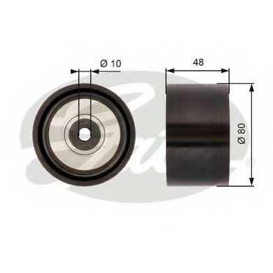 Паразитный / ведущий ролик поликлинового ременя GATES T36259 - изображение