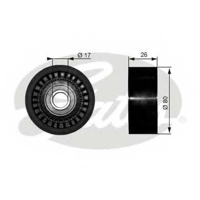 Паразитный / ведущий ролик поликлинового ременя GATES T36303 - изображение