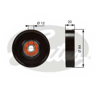 Натяжной ролик поликлиновогоременя GATES T36321 - изображение