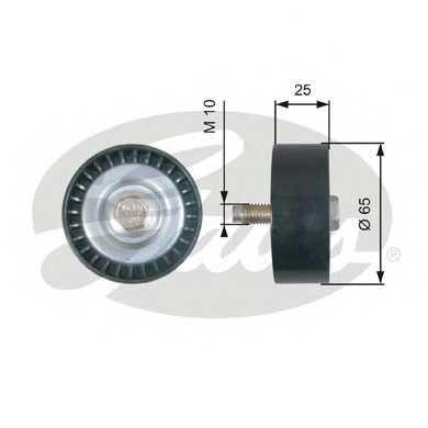 Паразитный / ведущий ролик поликлинового ременя GATES T36322 - изображение