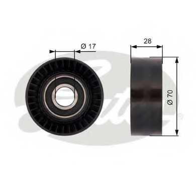 Паразитный / ведущий ролик поликлинового ременя GATES T36379 - изображение