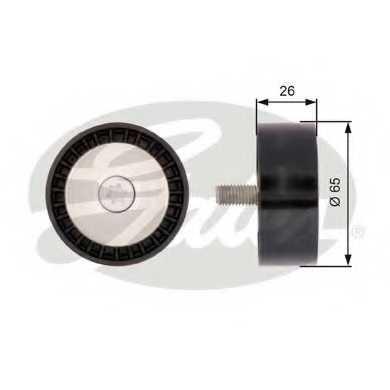 Паразитный / ведущий ролик поликлинового ременя GATES T36388 - изображение