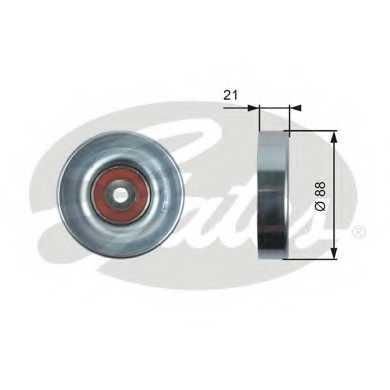 Паразитный / ведущий ролик поликлинового ременя GATES T36395 - изображение