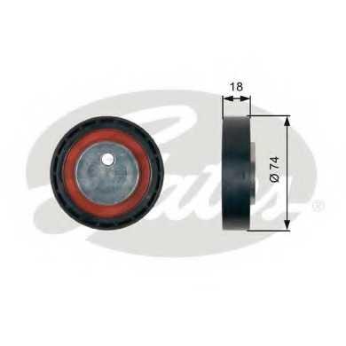 Паразитный / ведущий ролик поликлинового ременя GATES T36403 - изображение