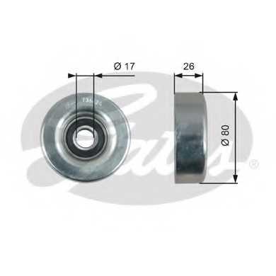 Паразитный / ведущий ролик поликлинового ременя GATES T36424 - изображение