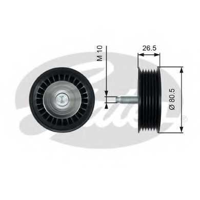 Паразитный / ведущий ролик поликлинового ременя GATES T36490 - изображение