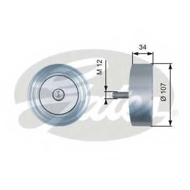 Паразитный / ведущий ролик поликлинового ременя GATES T36515 - изображение