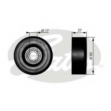 Паразитный / ведущий ролик поликлинового ременя GATES T38010 - изображение