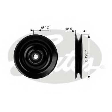 Паразитный / Ведущий ролик клинового ременя GATES T38040 - изображение