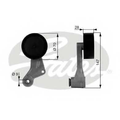 Натяжной ролик поликлиновогоременя GATES T38065 - изображение