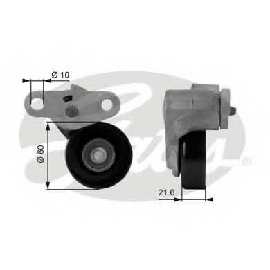 Натяжной ролик поликлиновогоременя GATES T38159 - изображение