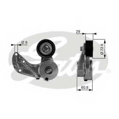 Натяжной ролик поликлиновогоременя GATES T38317 - изображение