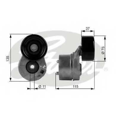 Натяжной ролик поликлиновогоременя GATES T38431 - изображение