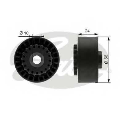 Натяжной ролик поликлиновогоременя GATES T39056 - изображение