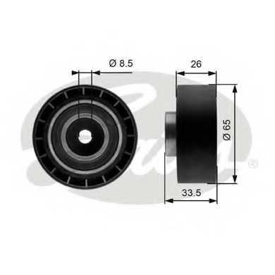 Натяжной ролик поликлиновогоременя GATES T39057 - изображение