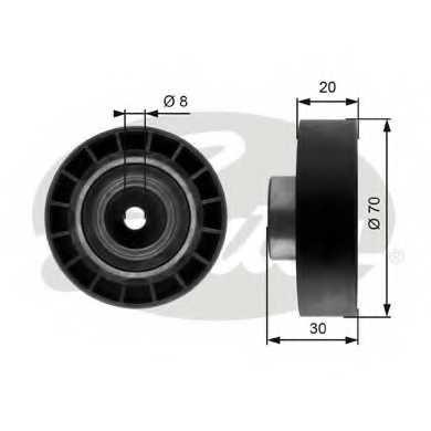 Натяжной ролик поликлиновогоременя GATES T39059 - изображение