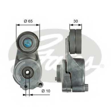 Натяжной ролик поликлиновогоременя GATES T39062 - изображение