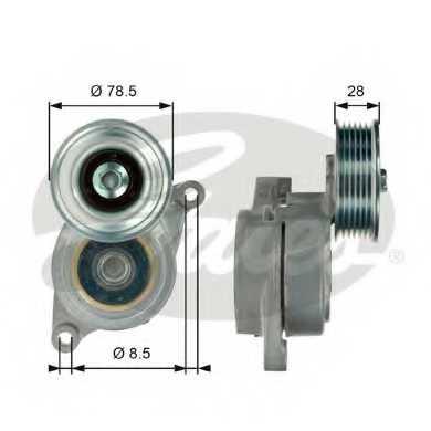 Натяжной ролик поликлиновогоременя GATES T39103 - изображение