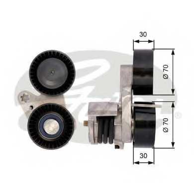 Натяжной ролик поликлиновогоременя GATES T39114 - изображение