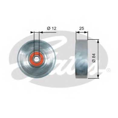 Натяжной ролик поликлиновогоременя GATES T39178 - изображение