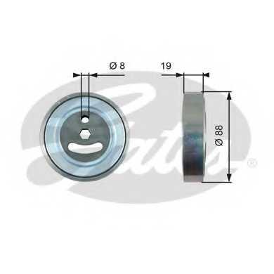 Натяжной ролик поликлиновогоременя GATES T39225 - изображение