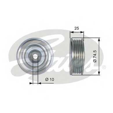 Натяжной ролик поликлиновогоременя GATES T39285 - изображение