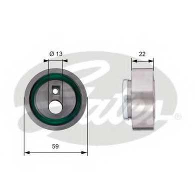 Натяжной ролик ременя ГРМ GATES T41129 - изображение