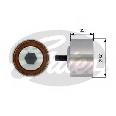 Паразитный / ведущий ролик зубчатого ремня GATES T42121 - изображение