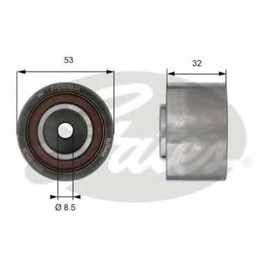 Паразитный / ведущий ролик зубчатого ремня GATES T42179 - изображение