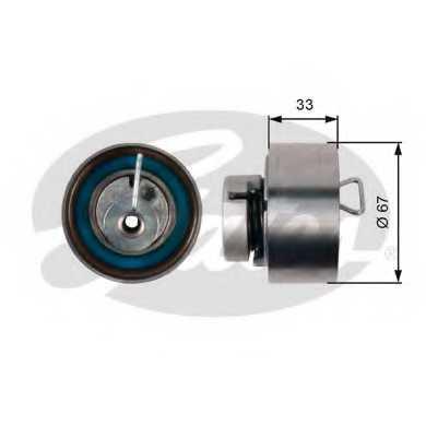 Натяжной ролик ременя ГРМ GATES T43005 - изображение