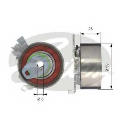 Натяжной ролик ременя ГРМ GATES T43040 - изображение