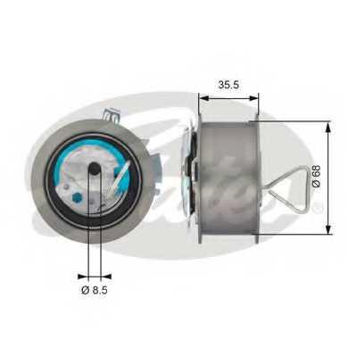 Натяжной ролик ременя ГРМ GATES T43091 - изображение