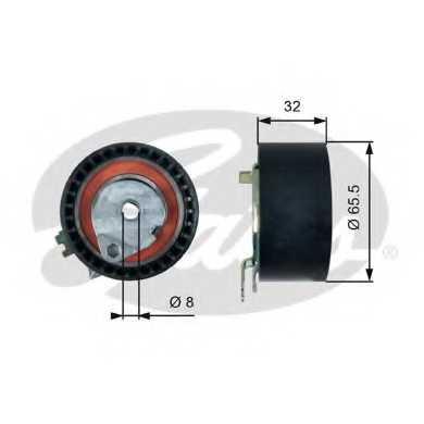 Натяжной ролик ременя ГРМ GATES T43236 - изображение