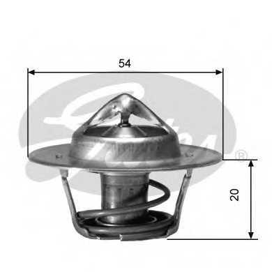 Термостат охлаждающей жидкости GATES TH00182G1 - изображение