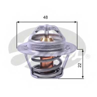 Термостат охлаждающей жидкости GATES TH00391G1 - изображение