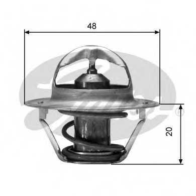 Термостат охлаждающей жидкости GATES TH00391G2 - изображение