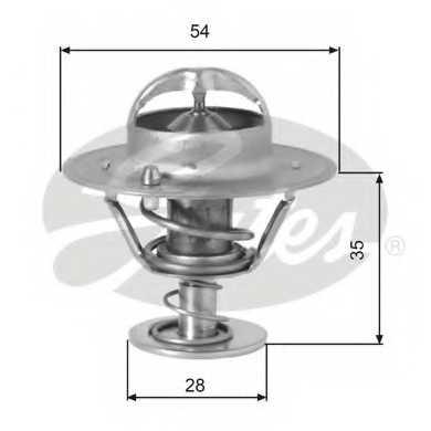 Термостат охлаждающей жидкости GATES TH00782G1 - изображение