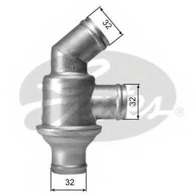 Термостат охлаждающей жидкости GATES TH01782 - изображение