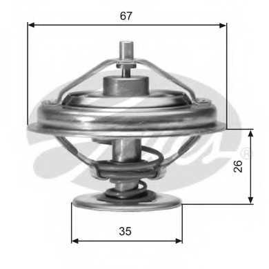 Термостат охлаждающей жидкости GATES TH01880G1 - изображение