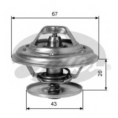 Термостат охлаждающей жидкости GATES TH01991G1 - изображение