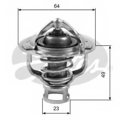 Термостат охлаждающей жидкости GATES TH04082 - изображение