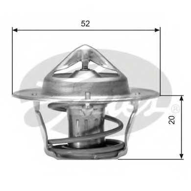 Термостат охлаждающей жидкости GATES TH04182G1 - изображение