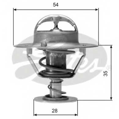 Термостат охлаждающей жидкости GATES TH04277 - изображение