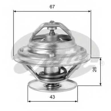 Термостат охлаждающей жидкости GATES TH05586G1 - изображение