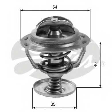 Термостат охлаждающей жидкости GATES TH06082G1 - изображение